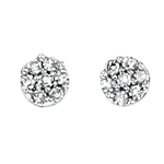 Fourth Avenue White Gold & Diamond Cluster Stud Earrings