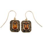 Fourth Avenue Gold & Citrine Hook Drop Earrings
