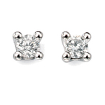 Fourth Avenue White Gold & Diamond Solitaire Stud Earrings