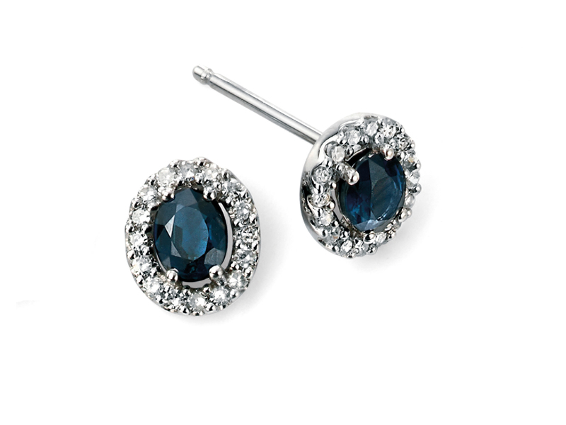 Product standard ge943l   fourth avenue   our white gold sapphire   diamond cluster stud earrings   white gold