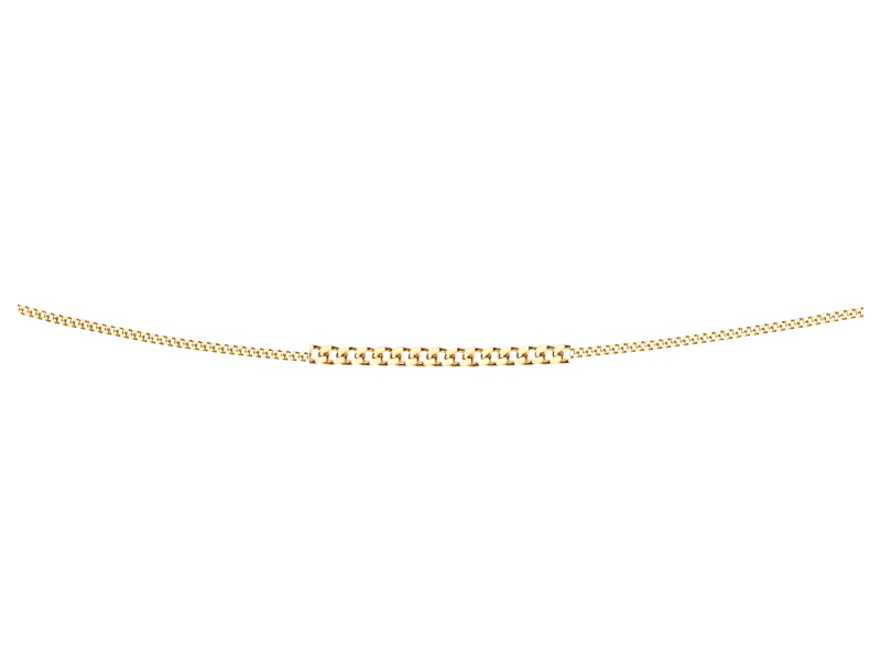 Product standard gn004   fourth avenue   our gold diamond cut curb chain    gold   5055067132633