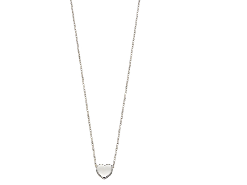 Product standard gn308   fourth avenue   our white gold small heart necklaces   white gold