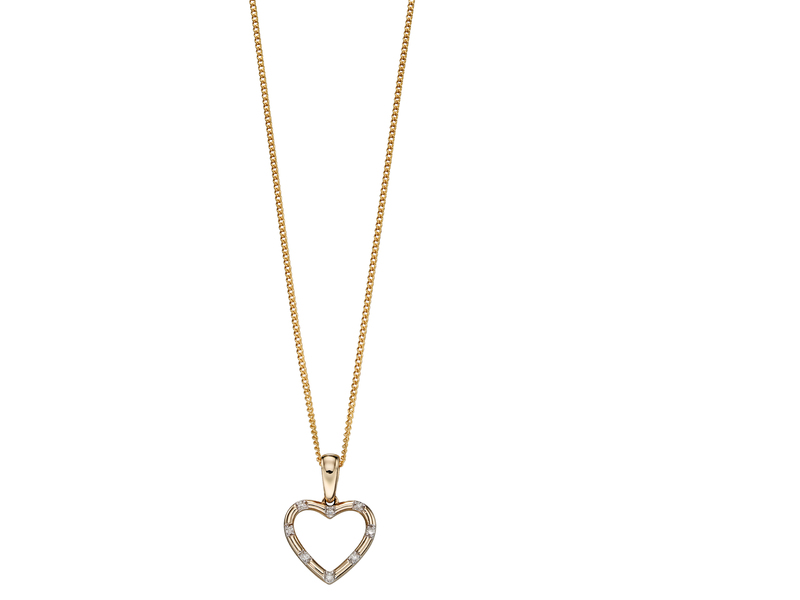 Product standard gp2079   fourth avenue   our gold   diamond heart pendants   gold