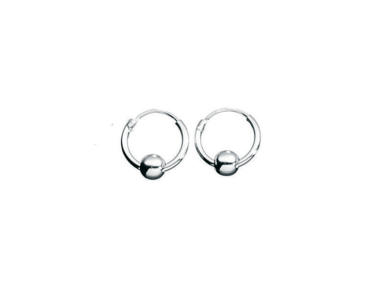 Product standard h026   fourth avenue   our silver hoop   ball earrings   silver   5055067179812