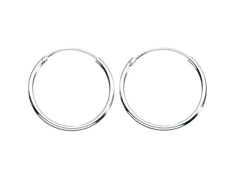 Product standard h036   fourth avenue   our silver 18mm hoop earrings   silver   5055067179829