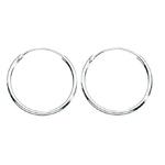 Fourth Avenue Silver 18Mm Hoop Earrings