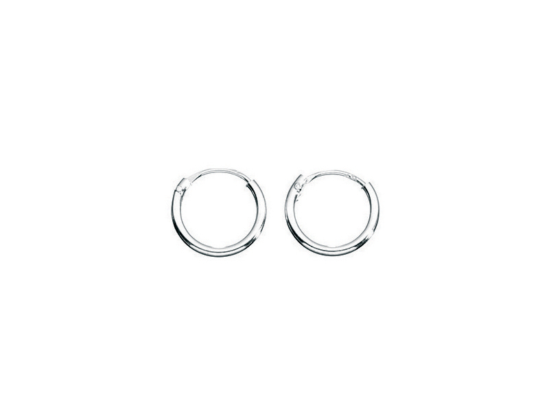 Product standard h040   fourth avenue   our silver 10mm hoop earrings    silver   5055067179836