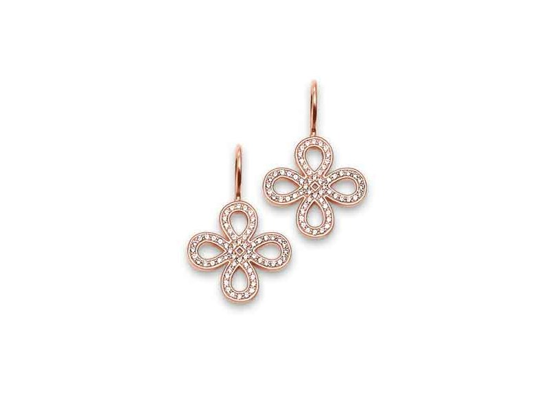 Product standard h1811 416 14   thomas sabo   ts rose gold   cz love knot drop earrings    rose gold   4051245088137