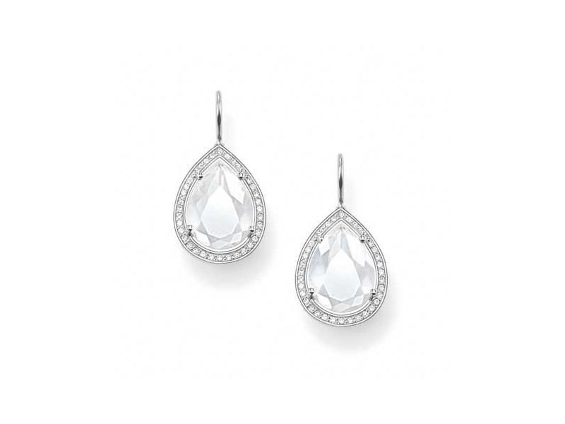 Product standard h1843 690 14   thomas sabo   ts silver   cz clear pear drop earrings    silver