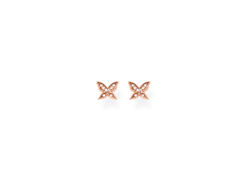 Product standard h1865 416 14   thomas sabo   ts rose gold   cz butterfly stud earrings    rose gold