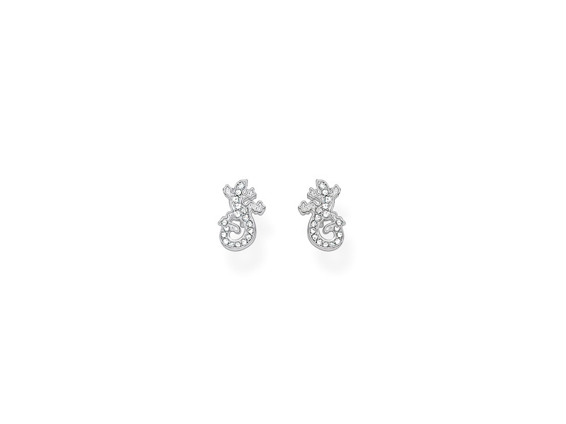 Product standard h1871 051 14   thomas sabo   ts silver   cz salamander stud earrings    silver