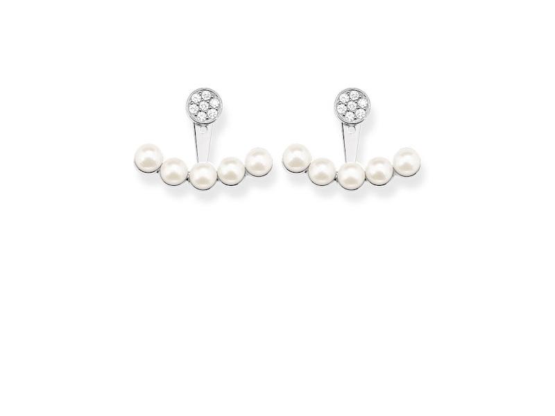 Product standard h1906 167 14   thomas sabo   ts silver   cz pearl earjacket earrings    silver   4051245193886