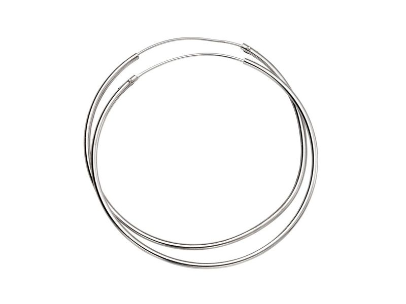 Product standard h242   fourth avenue   our silver 50mm hoop earrings   silver
