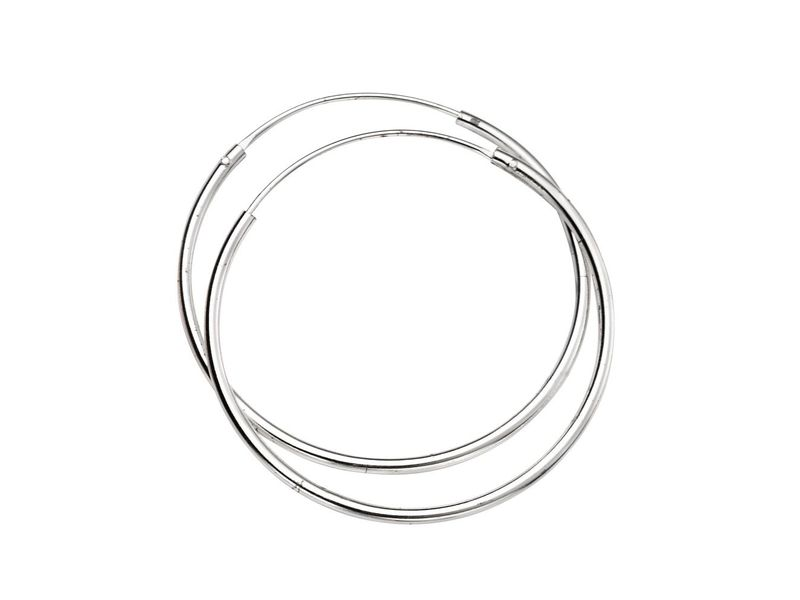 Product standard h244   fourth avenue   our silver 30mm hoop earrings   silver