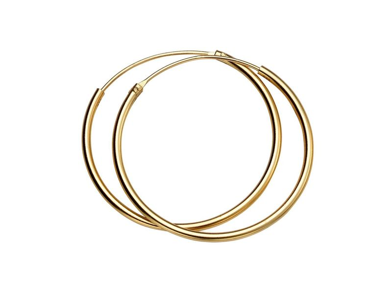 Product standard h246   fourth avenue   our gold 30mm hoop earrigs   gold