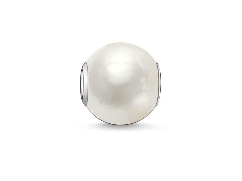 Product standard k0004 082 14   thomas sabo   ts white pearl karma bead    silver   4051245110852