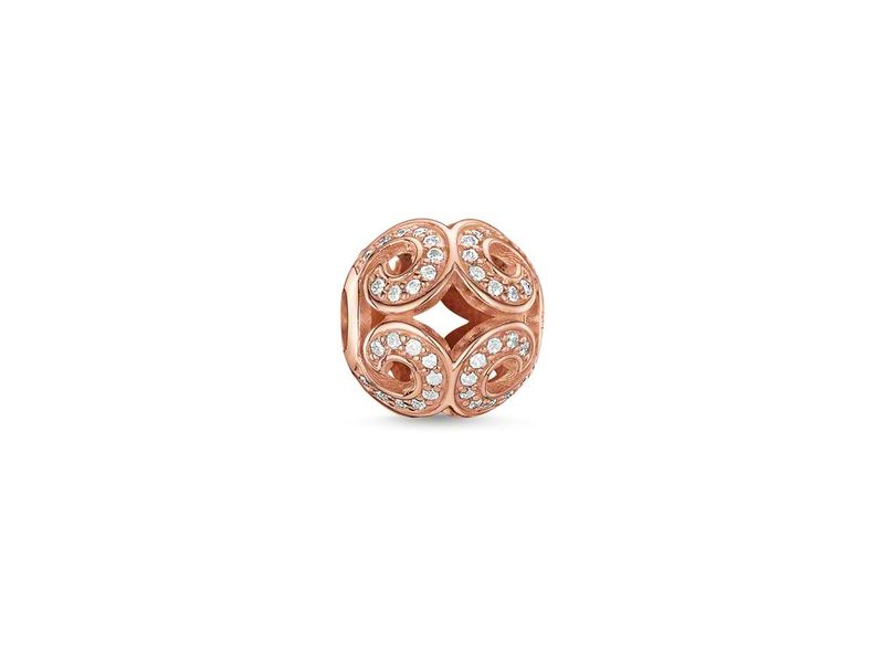 Product standard k0027 416 14   thomas sabo   ts rose gold   cz wave karma bead    rose gold   4051245111088