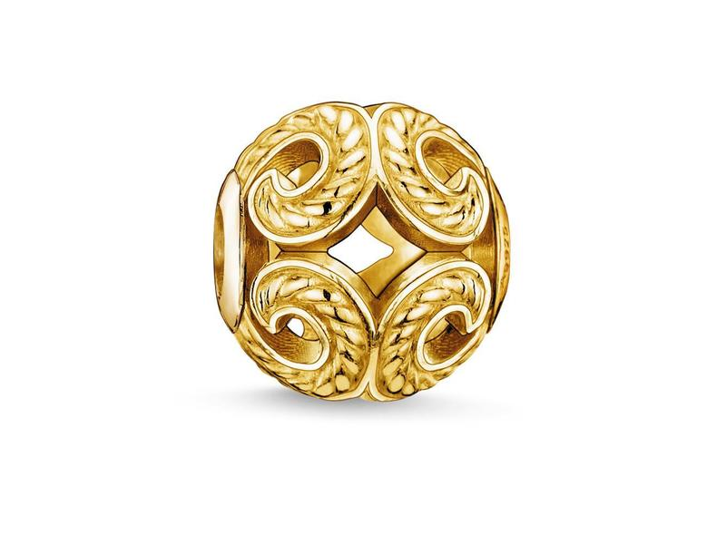 Product standard k0051 413 12   thomas sabo   ts gold wave karma bead    gold   4051245111323