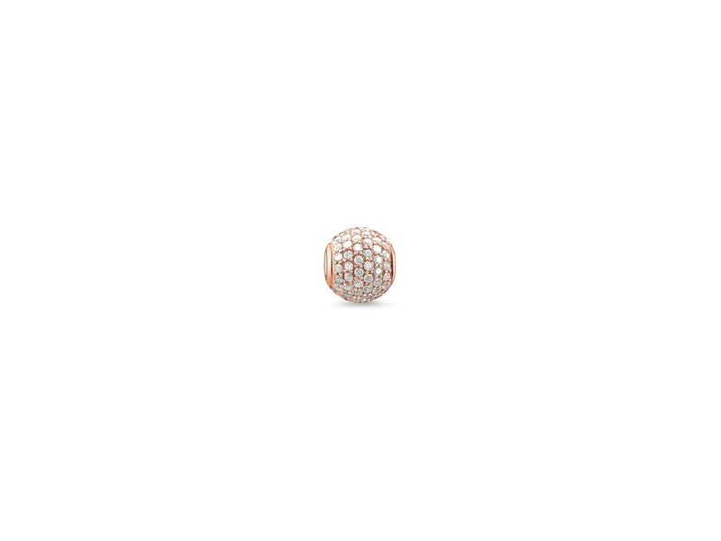 Product standard k0053 416 14   thomas sabo   ts rose gold   cz pave karma bead    rose gold   4051245111347