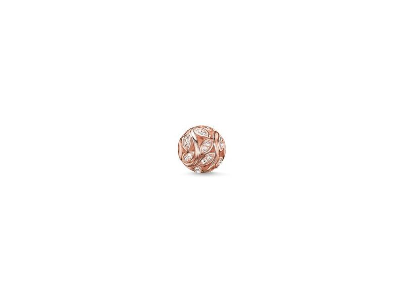 Product standard k0080 416 14   thomas sabo   ts rose gold   cz leaves karma bead    rose gold   4051245129328