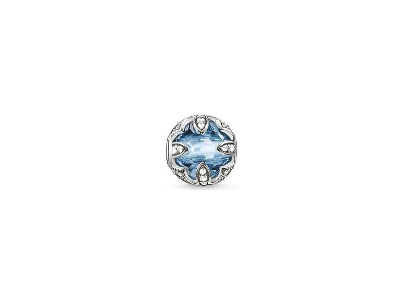 Product standard k0106 644 1   thomas sabo   ts silver   cz blue lotus karma bead    silver   4051245129588