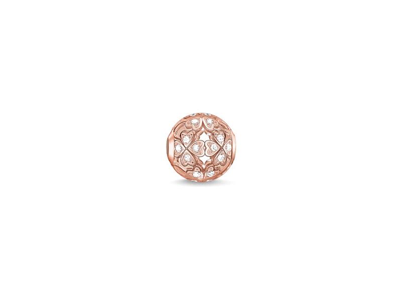 Product standard k0139 416 14   thomas sabo   ts rose gold   cz clover karma bead    rose gold