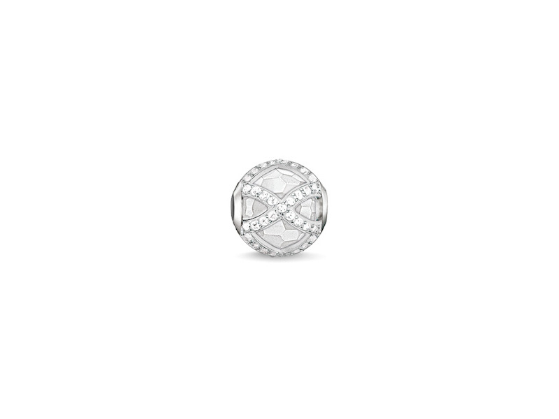 Product standard k0140 690 14   thomas sabo   ts silver   cz maharani karma bead    silver