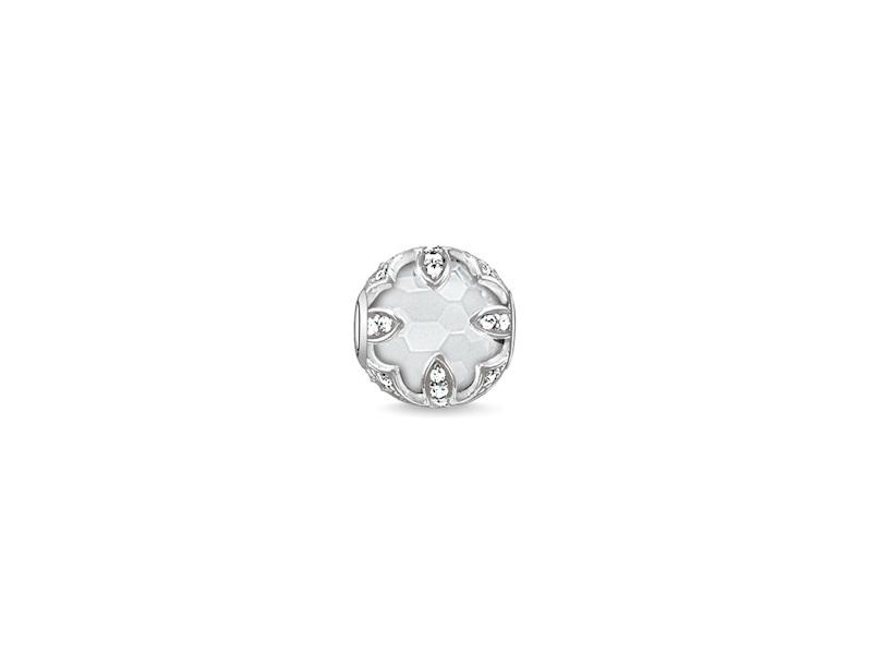 Product standard k0143 690 14   thomas sabo   ts silver   cz white quartz karma bead    silver