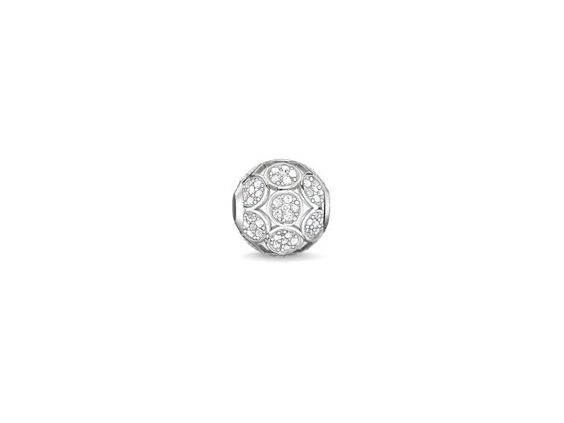 Product standard k0147 051 14   thomas sabo   ts silver   cz sparkling circles karma bead    silver