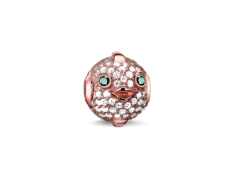 Product standard k0148 416 14   thomas sabo   ts rose gold   cz pufferfish karma bead    rose gold