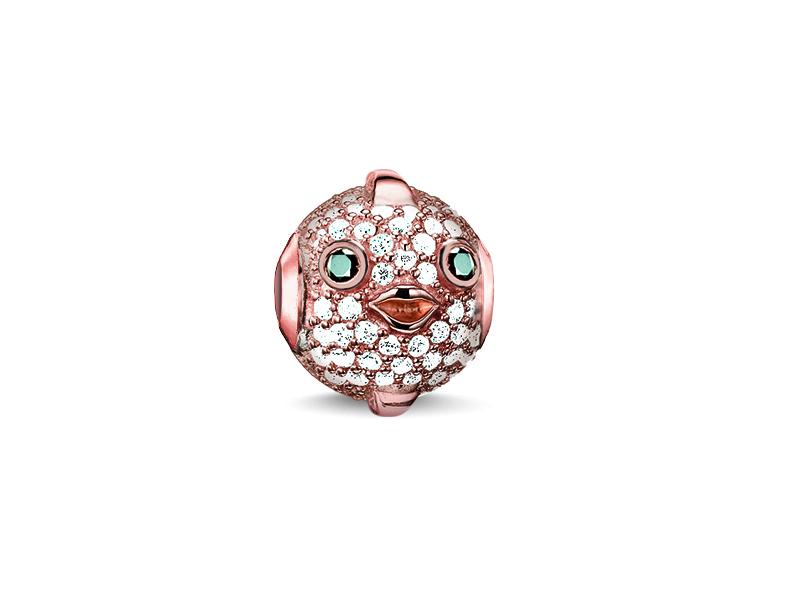 Product standard k0148 416 14   thomas sabo   ts rose gold   cz pufferfish karma bead    rose gold