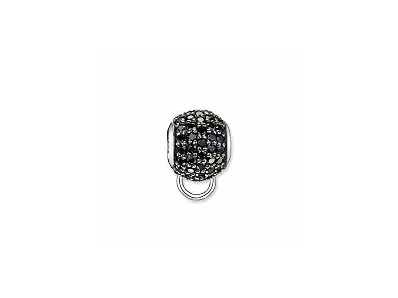 Product standard kx0004 643 11   thomas sabo   ts silver   black cz pave stopper   silver   4051245129960