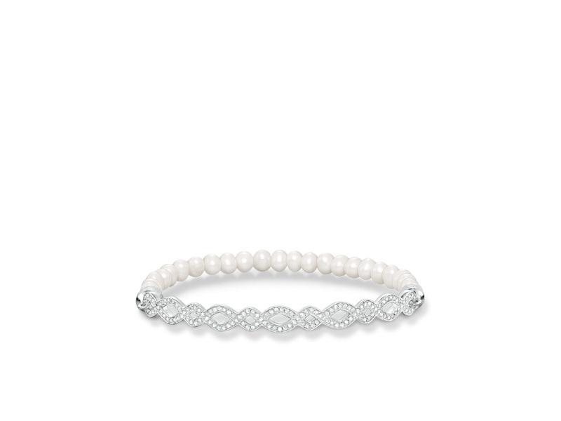 Product standard lba0006 167 14 l17.5   thomas sabo   ts silver   cz pearl bracelets    silver   4051245196948