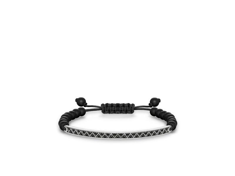 Product standard lba0012 810 11 l21v   thomas sabo   ts silver   black cz adjustable bracelets    silver   4051245196863
