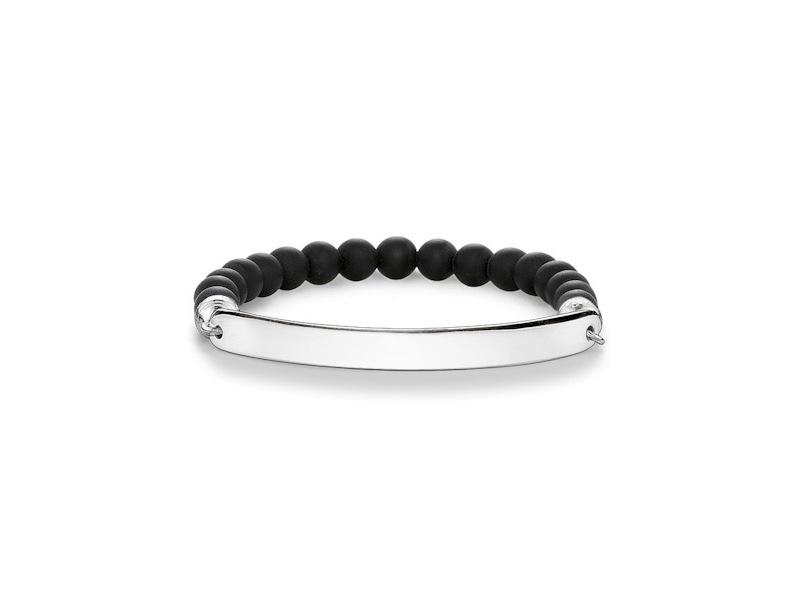 Product standard lba0014 023 11 l18.5   thomas sabo   ts silver   black bead love bride bracelets    silver   4051245197020