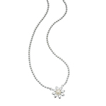 Fourth Avenue Silver Pearl Daisy Necklace