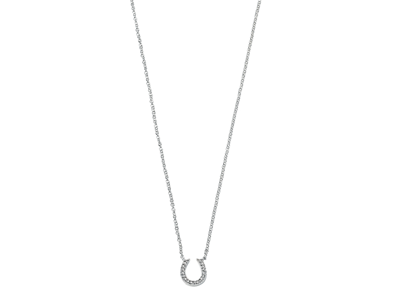 Product standard n3467c   fourth avenue   our slver   cz horseshoe necklaces   silver   5055067168014