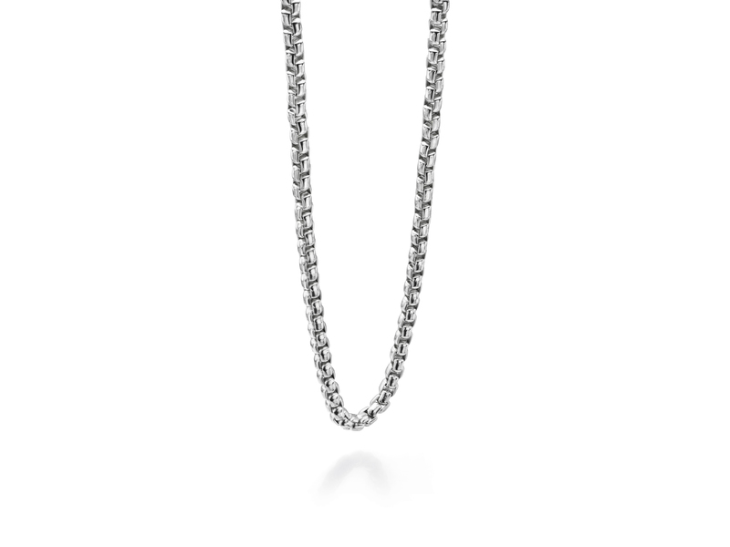 Fourth Avenue Stainless Steel Large Belcher Chain Necklace