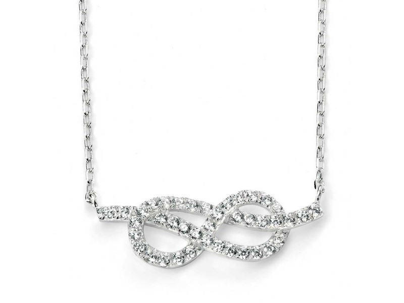 Product standard n3741c   fourth avenue   our silver   cz infinity necklaces    silver