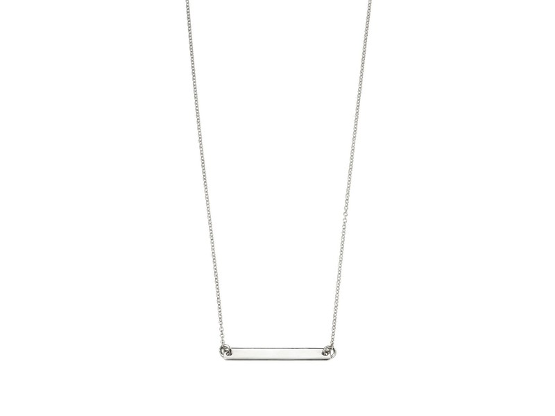 Product standard n4045   fourth avenue   our silver id bar necklaces    silver