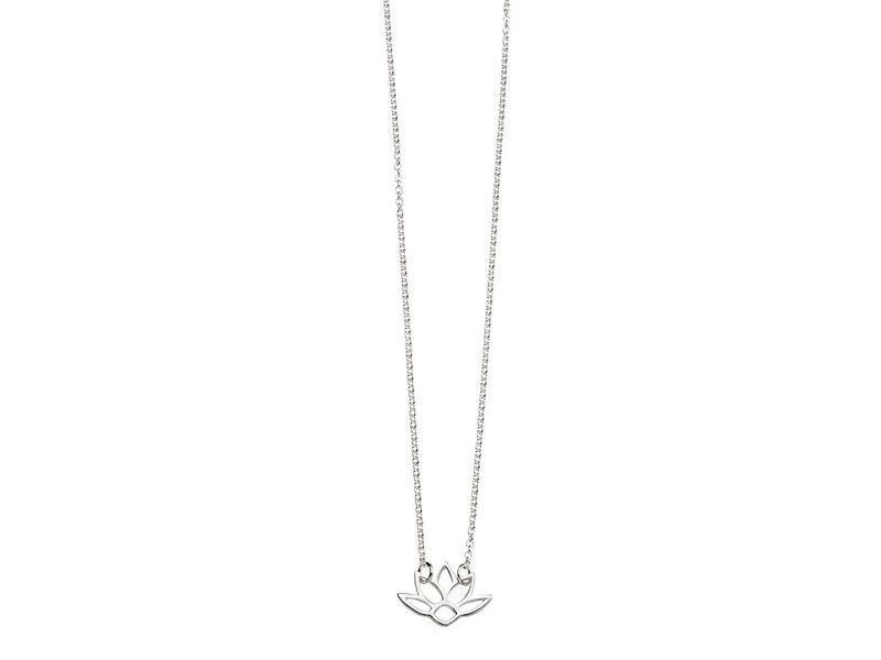 Product standard n4082   fourth avenue   our silver open lotus pendants %2b chain   silver