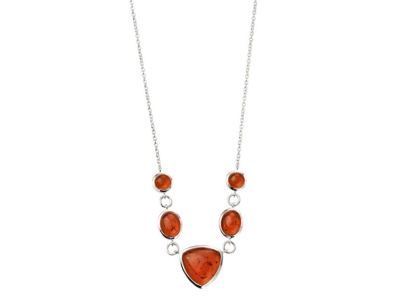 Product standard n4112r   fourth avenue   our silver   amber multishape necklaces    silver