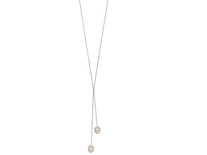 Product standard n4288w   fourth avenue   our silver   pearl lariat necklaces    silver