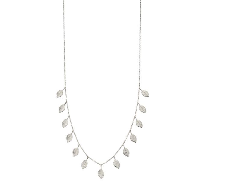 Fourth Avenue Silver Multi Leaf Nekclace