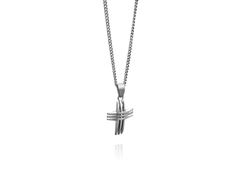 Fourth Avenue Stainless Steel Cross & Chain