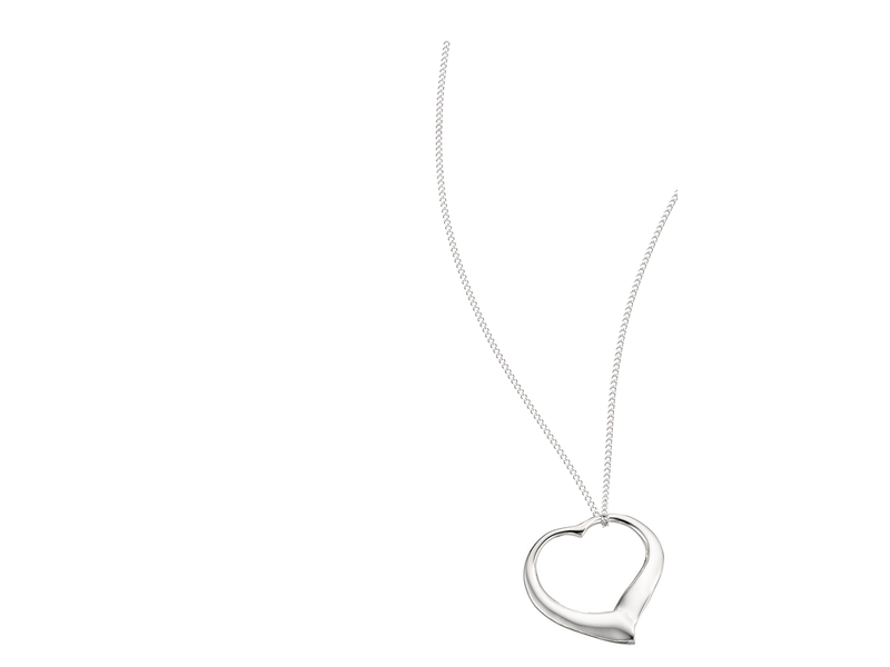Product standard p354   fourth avenue   our silver large open heart pendants %2b chain   silver   5055067121989