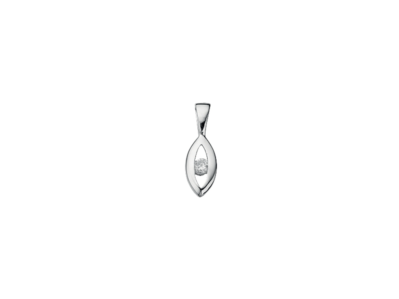 Product standard p3548c   fourth avenue   our silver   cz open marquise pendants   silver   5055067154895