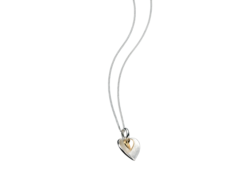 Product standard p3791   fourth avenue   our silver   gold plated double heart pendants   gold   5055067168731