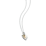 Fourth Avenue Silver & Gold Plated Double Heart Pendant