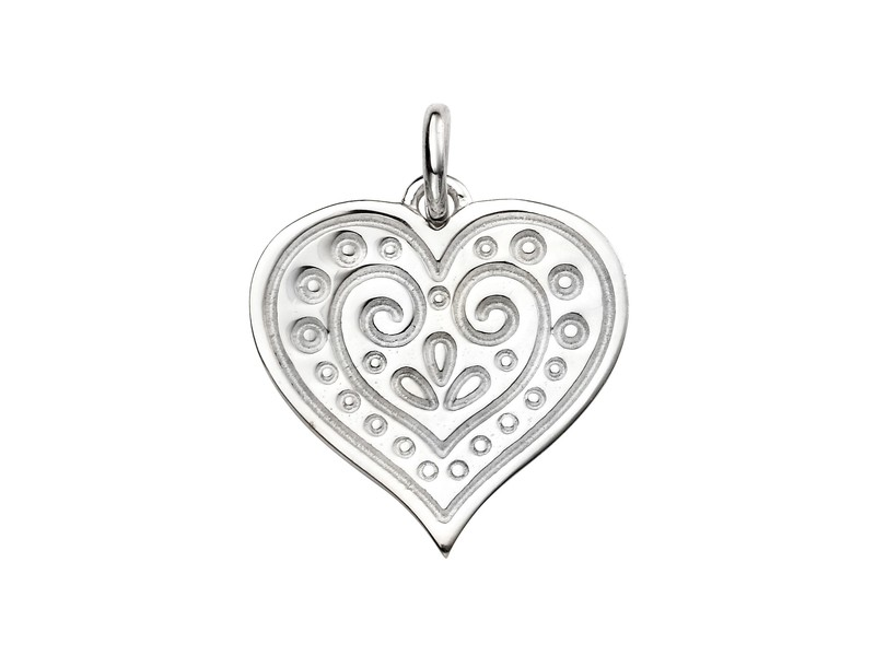 Product standard p4465   fourth avenue   our silver ornamental heart pendants   silver